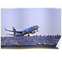 Alaska Airlines 737-800 Poster