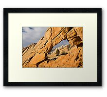 Window to Split Mountain Framed Print
