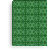 Green Circles Pattern Canvas Print