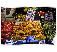 Fresh vegetables, Pike Street Market, Seattle, 2007 Poster