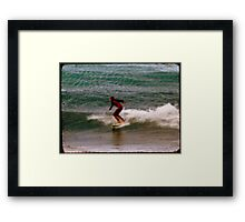 Retro Surf Framed Print