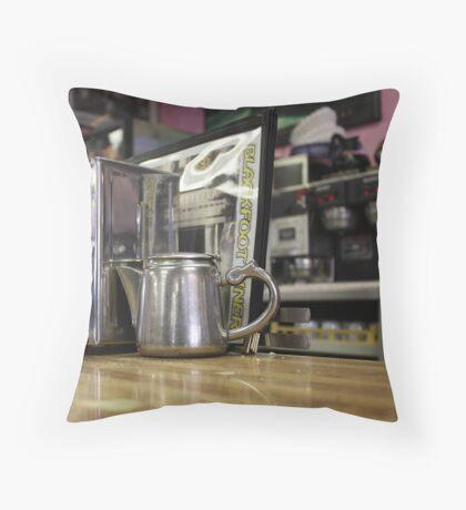 coffee counter Throw Pillow