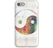Yin And Yang - Colorful Peace - By Sharon Cummings iPhone Case/Skin