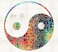 Yin And Yang - Colorful Peace - By Sharon Cummings by Sharon Cummings