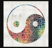 Yin And Yang - Colorful Peace - By Sharon Cummings Baby Tee