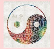 Yin And Yang - Colorful Peace - By Sharon Cummings Kids Tee