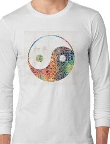 Yin And Yang - Colorful Peace - By Sharon Cummings Long Sleeve T-Shirt