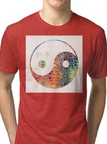Yin And Yang - Colorful Peace - By Sharon Cummings Tri-blend T-Shirt