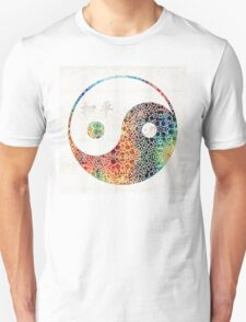 Yin And Yang - Colorful Peace - By Sharon Cummings Unisex T-Shirt