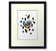 Rainbow Anigami Fox Framed Print
