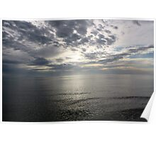 Grey Sky - Naples Beach, Florida Poster