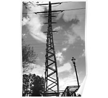 Live Wires - Columbia River Walk, South Carolina Poster
