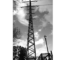 Live Wires - Columbia River Walk, South Carolina Photographic Print