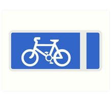 Cycle Lane Symbol Art Print
