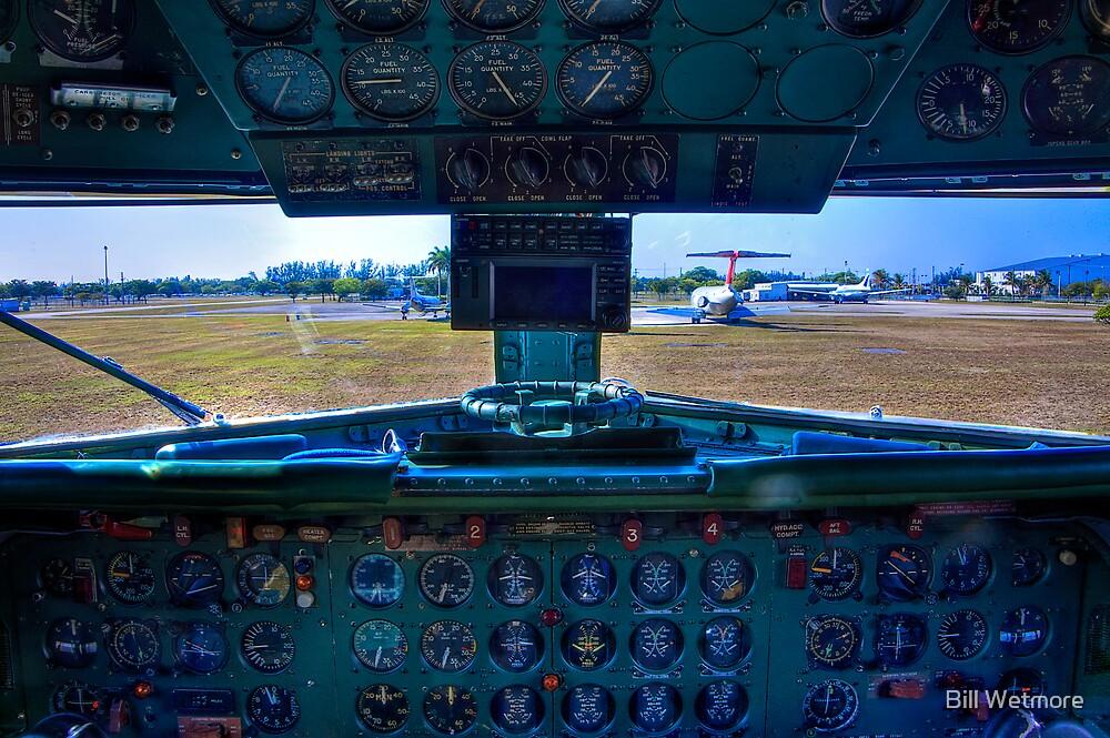 On a DC-7B Flight Deck by Bill Wetmore