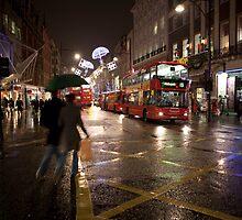 Christmas shopping on Oxford Street by Alexander Davydov