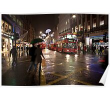 Christmas shopping on Oxford Street Poster