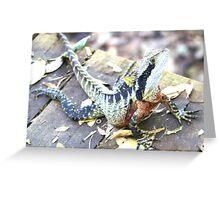 Water dragon Greeting Card
