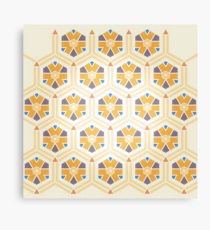 Abstract Geometric Kids Pattern Canvas Print