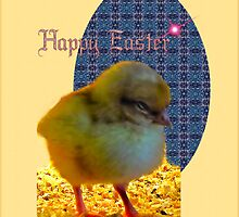 Easter Chick Card by mandyemblow