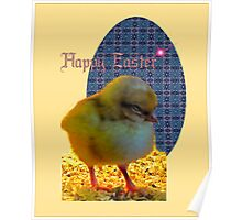Easter Chick Card Poster