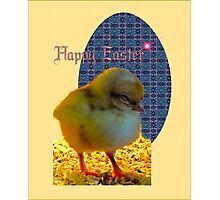 Easter Chick Card Photographic Print