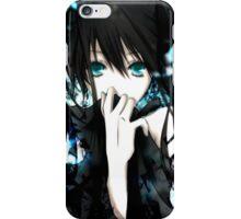anime dark girl  iPhone Case/Skin