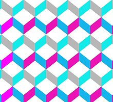 Bold Bright Trendy Optical Illusion Color Blocks by Artification