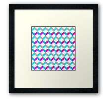Bold Bright Trendy Optical Illusion Color Blocks Framed Print