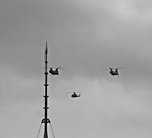 Helicopters Over One World Trade Center by pmarella