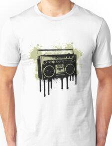 Portable Stereo Splatter Unisex T-Shirt