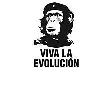 Viva la evolucion - monkey che guevara Photographic Print