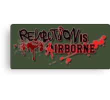 Revolution Anarchy Airborne  Canvas Print