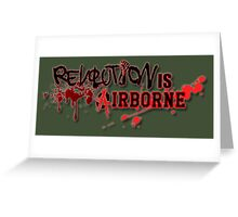 Revolution Anarchy Airborne  Greeting Card