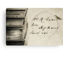 Book Stack Canvas Print