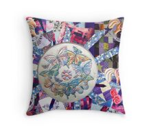 Rocking horses and Butterflies Throw Pillow