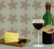 cheese and wine by anjou