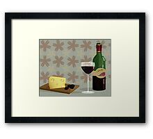 cheese and wine Framed Print