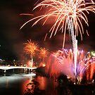 Fireworks in Brisbane by footsiephoto