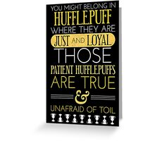 Hufflepuff Greeting Card