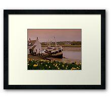 Fishing Boat at Kirkcudbright Harbour Framed Print