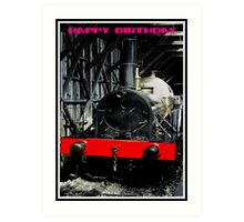 Tank Engine with Red Board Art Print