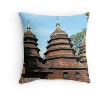 Wooden Church Throw Pillow