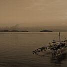 Bangka boat at sunset by Jesper Høgsdal