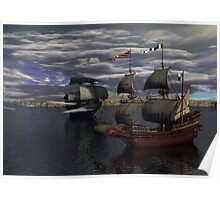 HMS Prince William and the Flying Dutchman poster version Poster