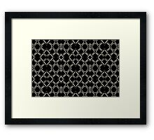 Geometric Abstract Pattern Futuristic Design  Framed Print