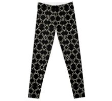 Geometric Abstract Pattern Futuristic Design  Leggings