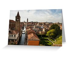 Red Roofs of Europe - Venetian Canals, Palaces, Gardens and Courtyards Greeting Card