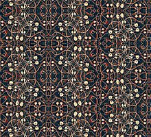 Victorian Style Grunge Pattern by DFLC Prints