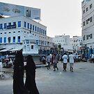 Symbols on the wall (3) - falling evening in old Al Mukalla by Marjolein Katsma
